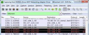 Wireshark открытое окно