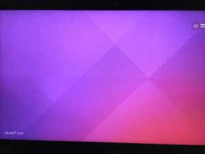 Чистый экран при попытке входа в Ubuntu