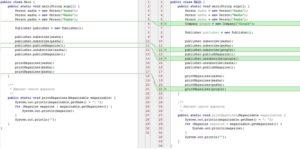 Разница в коде
